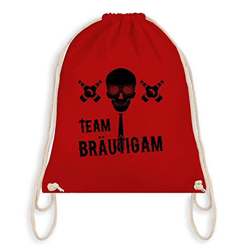 Jga Bachelor Party - Team Groom Skull - Borsa Da Palestra I Gym Bag Rossa