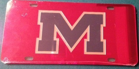 Ole Miss Rebels Red with Blue
