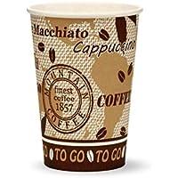 100X vasos, Coffee to go vasos de papel, Octopus Taza de café con 180ml volúmenes y aspecto de Schöner