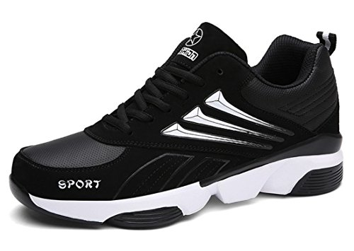 Men's Breathable Outdoor Athletic Running Shoes Black White