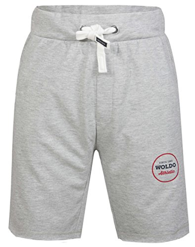 0974850b367a 6. WOLDO Athletic Herren Sweatshorts Sport Fitness Freizeit Shorts  Trainingshose kurze Hose Slim Fit (L Gibson   grau)