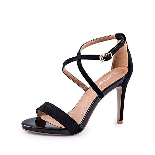 Sandales D'été/Sandales Dames/Sandales En Velours De Couleur Unie C