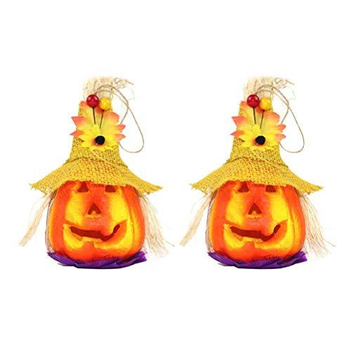 Mobestech Halloween Kürbis Licht Laterne Kürbis Lichterketten für Holiday Festival Party Decor