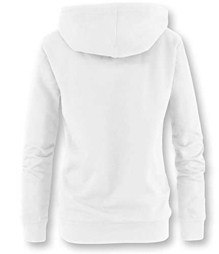 EZYshirt® Wife.Mom.Boss. Damen Hoodie Weiss/Blau