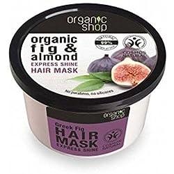 ORGANIC SHOP - Mascarilla Capillar Orgánica Aceite de Almendras e Higos orgánico - Brillo y Elasticidad - Reparación intensiva y nutrición - 250 ml