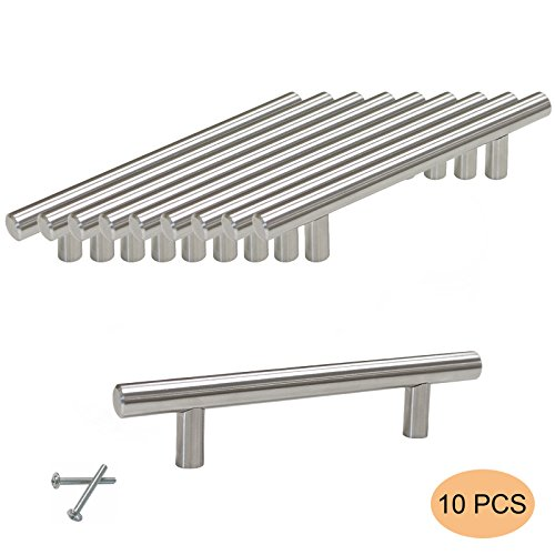 Probrico Furniture Cabinet Handles PD201HSS96 Stainless Steel Diameter 12mm Hole to Hole 96mm 4 10 PCS by Probrico