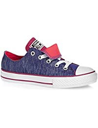 e9146b985561c Converse Chuck Taylor All Star Double Tongue Infant Noir Textile Baskets