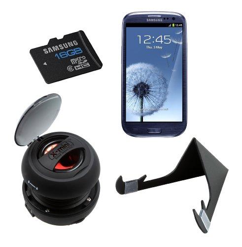 Samsung Galaxy S3 Sound-Paket einschließlich X-Mini V1,1 Capsule-Lautsprecher / Crabble-Ständer / Samsung 16GB Micro-SD-Karte (Samsung Micro Sd-karte 16gb)