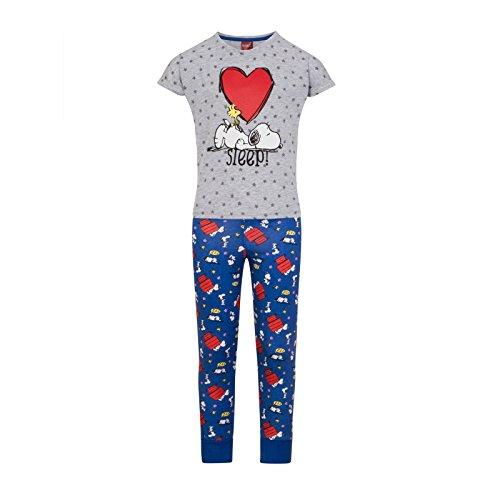 Peanuts - Mädchen Schlafanzug mit Snoopy-Motiv - Offizielles Merchandise - Geschenk - 9-10Jahre (Peanut Snoopy Schlafanzug)
