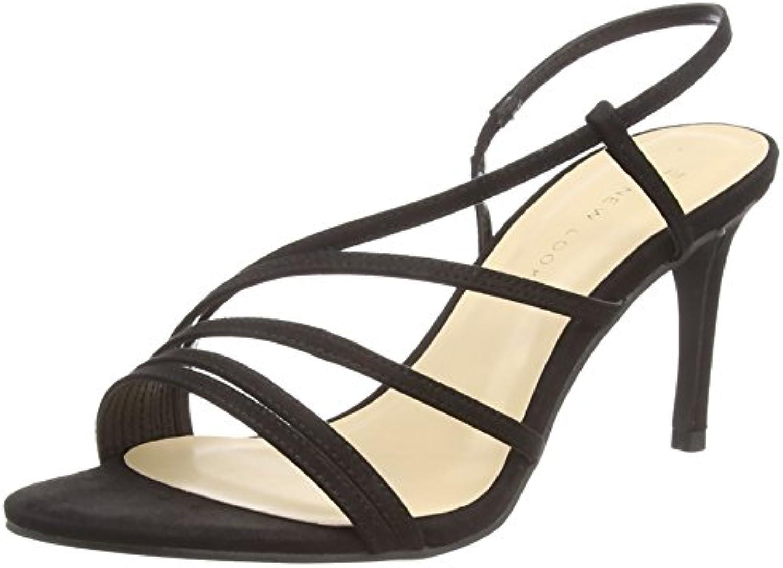 New Look Wide Foot Tetris, Zapatos de Tacón con Punta Abierta para Mujer