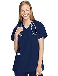 Damen Uniformen Schlupfkasack Gute Qualität Mock Wrap Top [ 20 Farben ]