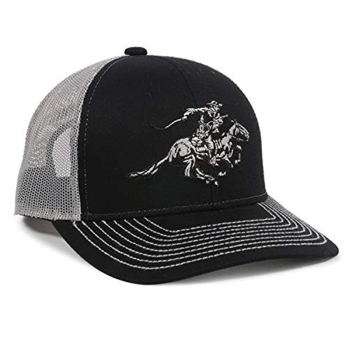 Winchester Horse Rider Mesh Back schwarz/weiß Jagd Hat -