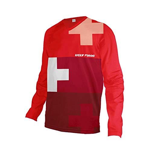 Uglyfrog 2019 Lange Ärmel Jersey MTB Rennrad Frühlingsart Motocross Mountain Bike Downhill Jersey Shirt Radsport Bekleidung Herren Trikots & Shirts Sportbekleidung Kleidung -