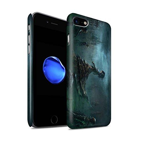 Offiziell Chris Cold Hülle / Matte Snap-On Case für Apple iPhone 7 / Schatten Ritter Muster / Unterwelt Kollektion Banshee/Hexe-Königin