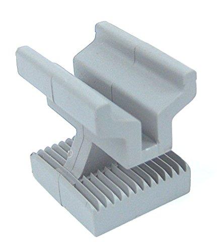 Kovalex Montage-Clip - Montageklemme für die WPC Terrassendiele - grau - 25 Stück