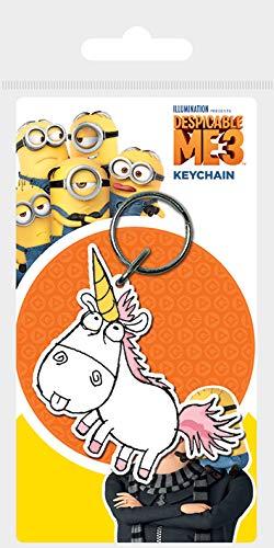 Despicable Me 3 - Unicorn, Schlüsselanhänger aus Gummi, 4.5 x 6 cm Mehrfarbig