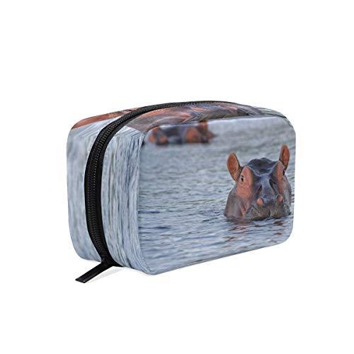 Kosmetiktasche mit Reißverschluss See Tier Hippo Clutch Reise Aufbewahrungstasche Make-up Tasche Tasche Organizer Fall für Frauen - See Tier