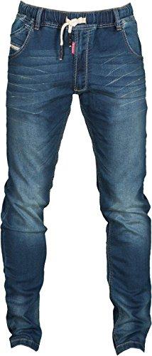 Pantaloni Da Lavoro Jeans Uomo Taglio Aderente Elasticizzati Payper Los Angeles, Colore: Deep Blue, Taglia: 44