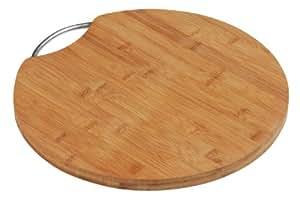 Premier Housewares 1103936 Planche à Découper en Bambou avec Poignée en Aluminium