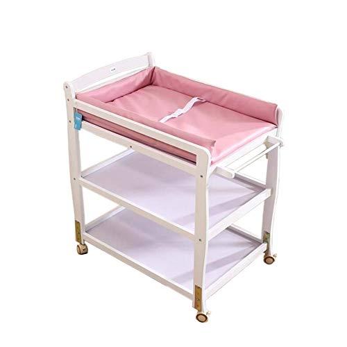YFQ Hölzerne Baby Windel Station Baby Tragbare Tabelle Baby Dressing Station Speicherplatz Und Handtuchhalter Windel Organizer -