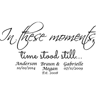 IN THESE MOMENTS TIME STOOD STILL SP WALL ART MARRIED FAMILY CHILDREN STICKER (150cm)