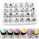 24pcs Icing Piping Nozzles Pastry Tips C...