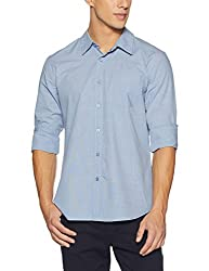 GUESS Mens Casual Shirt (190761687869_M71H87W8HD0_Medium_Blue)