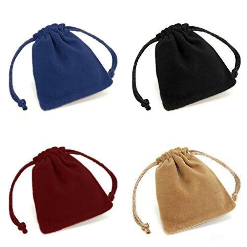 ug Schmuck Verpackung Beutel Halskette Ohrringe Ring Geschenk Taschen Veranstalter Lagerung zufällige Farbe ()