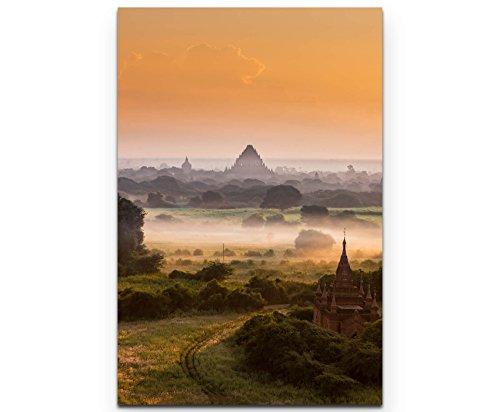 Sonnenaufgang über Pagode in Myanmar - Poster gerollt 90x60cm -