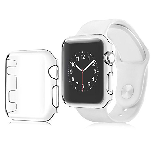 Luckiests Für Apple-Uhr-Serie 1 Case Schutzhülle 38mm All-Around für iWatch Screen Protector harten PC löscht Vollbild Transparent Ultra Thin Zubehör Shell-Schild - Pcs Screen Protector