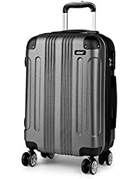 Kono Lightweight Suitcase Hard Shell ABS Luggage with 4 Spinner Wheels