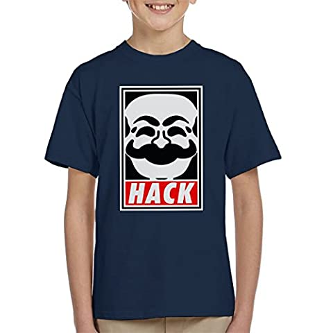 Hack Society Mr Robot Obey Kid's T-Shirt