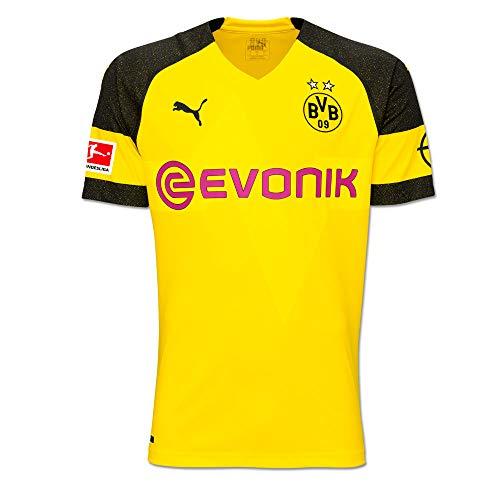 Puma BVB Borussia Dortmund Home Trikot mit Bundesliga Logo 2018 2019 Herren Paco Alcacer 9 Gr L