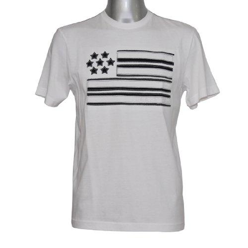 JOCKEY Shirt kurzarm Rundhals reine Baumwolle U.S.A Originals White