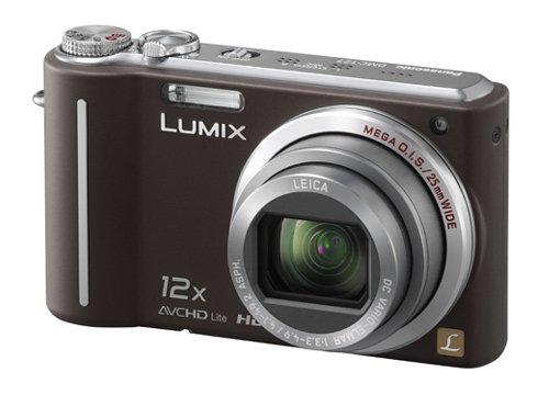 Panasonic DMC-TZ7EG-T Digitalkamera (10 Megapixel, 12-fach opt. Zoom, 7,6 cm Display, Bildstabilisator) chocolate