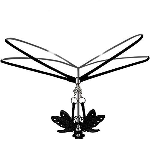 GZGJNK Strass Dekoration Erotic String Tanga Frauen Metallknopf G String Ropa Interior Femenina Schwarz/Rot/Weiß Sexy Kostüme