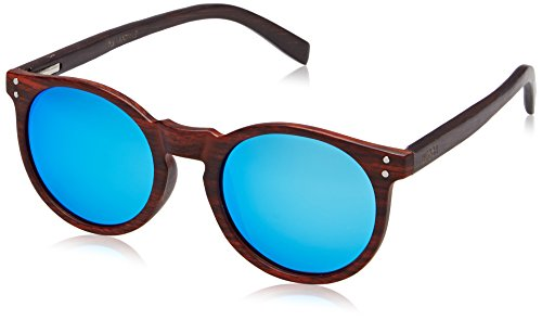 Ocean Sunglasses Lizard Lunettes de soleil Bamboo Brown Frame Wood Dark  Arms Rev f13b9e14f25f