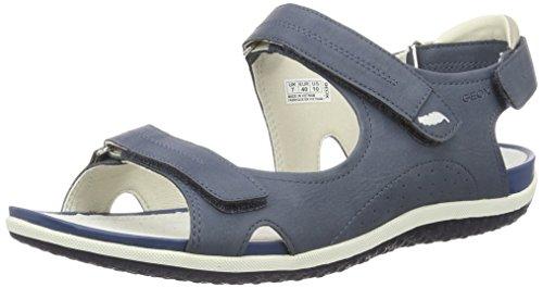 Geox D Vega A, Sandales Bout Ouvert Femme, Bleu (Denimc4008), 39 EU