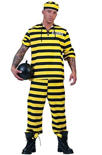 Von Gruppen Kostüme 3 (Dalton Joe Sträfling Kostüm Herren Gr. 54 - Tolles Verbrecher, Knastbruder oder Gesetzlosen Kostüm für Karneval, Junggesellenabschied oder)
