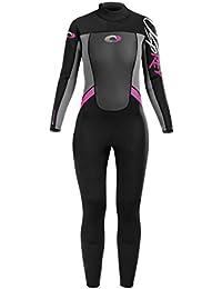 Traje de neopreno para mujer Osprey Origin, 3/2 mm, multicolor, mujer, color negro / rosa, tamaño XS