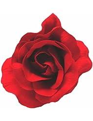 Pour les cheveux-un flamenco-style fleur en tissu rouge foncé.