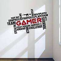Pegatinas decorativas para pared de gamer para ...