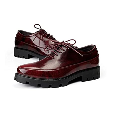 WZG New England shoes hair stylist pointed casual shoes increased