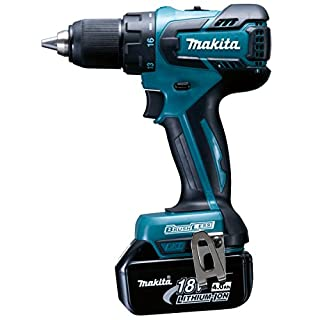 Makita DDF459RMJ 18 V Li-ion LXT Brushless Drill Driver Complete with 2 x 4.0 Li-ion Batteries and Charger in a Makpac Case