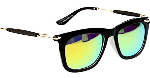 Younky Uv Protected Wayfarer Men's, Women's, Boy's, Girl's Sunglasses - (Silver-Stick-Green-Mercury-Wayfarer|55|Green)