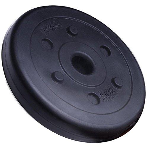 2,5 kg Hantelscheibe Kunststoff ScSPORTS Gewicht Zement 30/31 mm Lochdurchmesser Bohrung