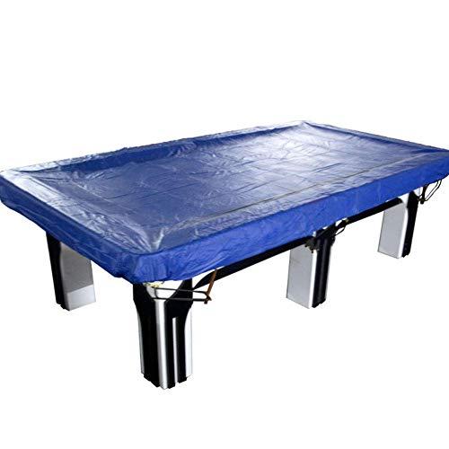 GLP Extra Dickes Billardtisch-Zubehör Bällchenabdeckung Wasserdichte staubdichte Abdeckung / 9 Fuß Billardtisch Silber Tischabdeckung (Color : Dark Blue)