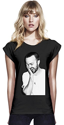 Aaron Paul Womens Continental Rolled Sleeve T-Shirt Medium