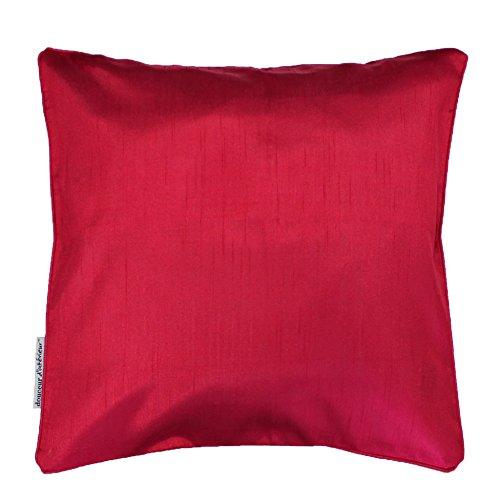 Douceur d'Intérieur Shana Housse de Coussin +Encart 60 x 60 cm Shantung Uni Shana Polyester Rouge 60 x 60 cm