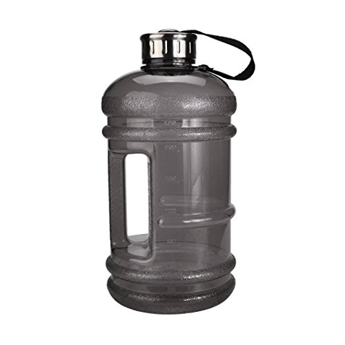 Sport Trinkflasche, Gusspower 2.2 L Water Jug BPA & DEHP Frei Wasser Flasche, Workout Fitness Übung Wasser Krug Ideal für Gym, Laufen, Draußen, Radfahren und Camping (Schwarz) - Große Sport Jug